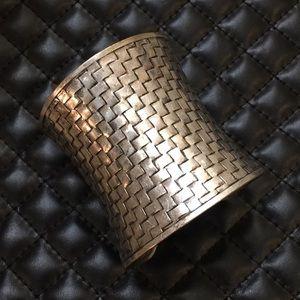 Madewell Boho Gypsy Silver Tone Cuff Bracelet